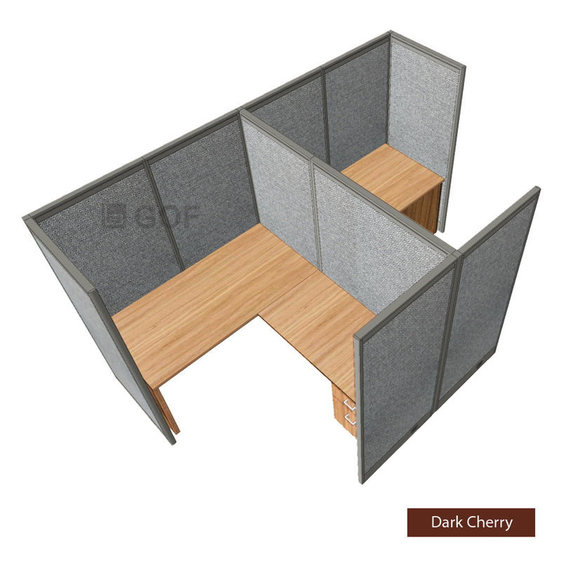 GOF Double 2 Person Workstation Cubicle (12'D x 7'W x 6'H) / Office Partition, Room Divider - Kainosbuy.com