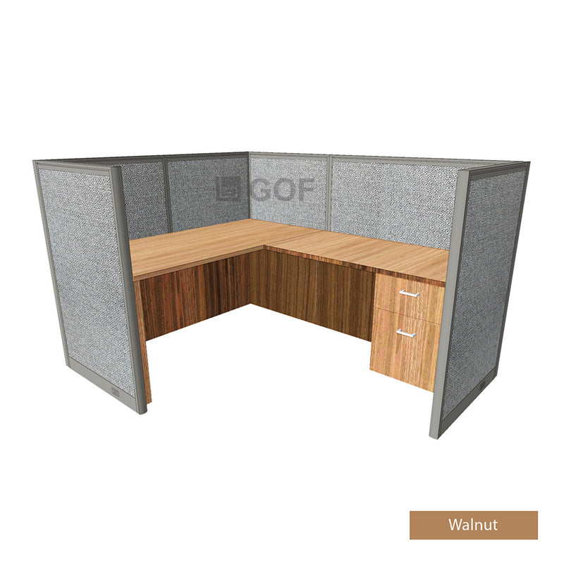 GOF 1 Person Workstation Cubicle (5.5'D x 6'W x 4'H) / Office Partition, Room Divider - Kainosbuy.com