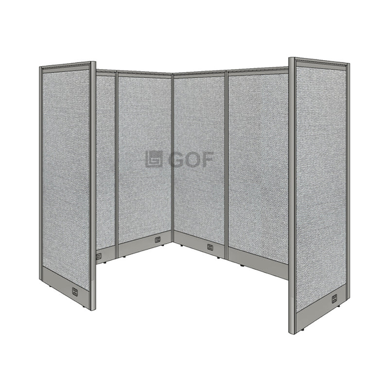 GOF 1 Person Workstation Cubicle (5'D x 6.5'W x 6'H) / Office Partition, Room Divider - Kainosbuy.com