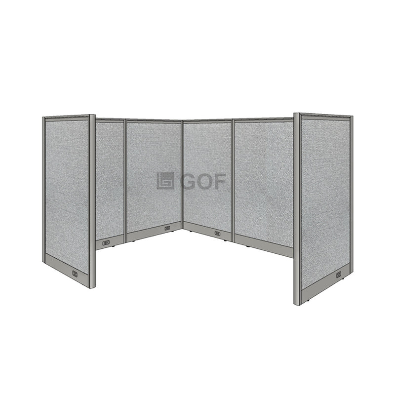 GOF 1 Person Workstation Cubicle (5'D x 6'W x 4'H) / Office Partition, Room Divider - Kainosbuy.com