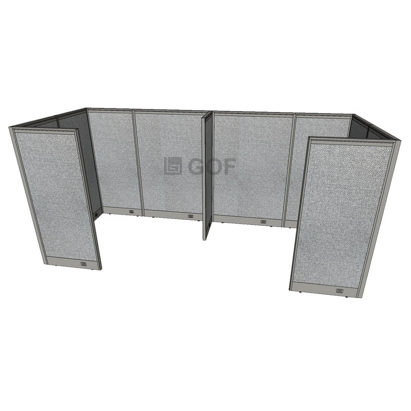 GOF 2 Person Separate Workstation Cubicle (C-6'D  x 12'W x 6'H -W) / Office Partition, Room Divider - Kainosbuy.com
