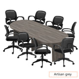 10ft. Racetrack Conference Table with<br>8 Chairs (G10901B) - Kainosbuy.com
