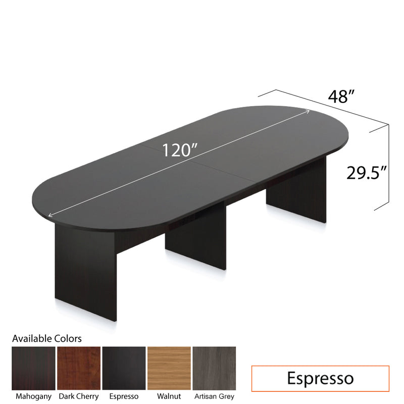 10ft. Racetrack Conference Table with<br>8 Chairs (G11642B) - Kainosbuy.com