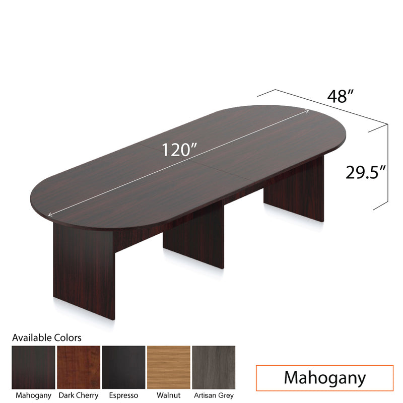 10ft. Racetrack Conference Table with<br>8 Chairs(G10902B) - Kainosbuy.com