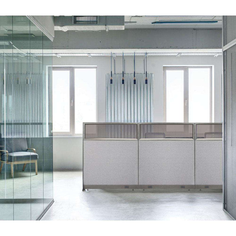 GOF Partial Glass Panel Office Partition<br>30w x 60h - Kainosbuy.com