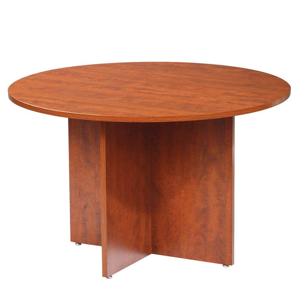 "42"" GOF Round Table/Cross Base (Dark Cherry) - Kainosbuy.com"