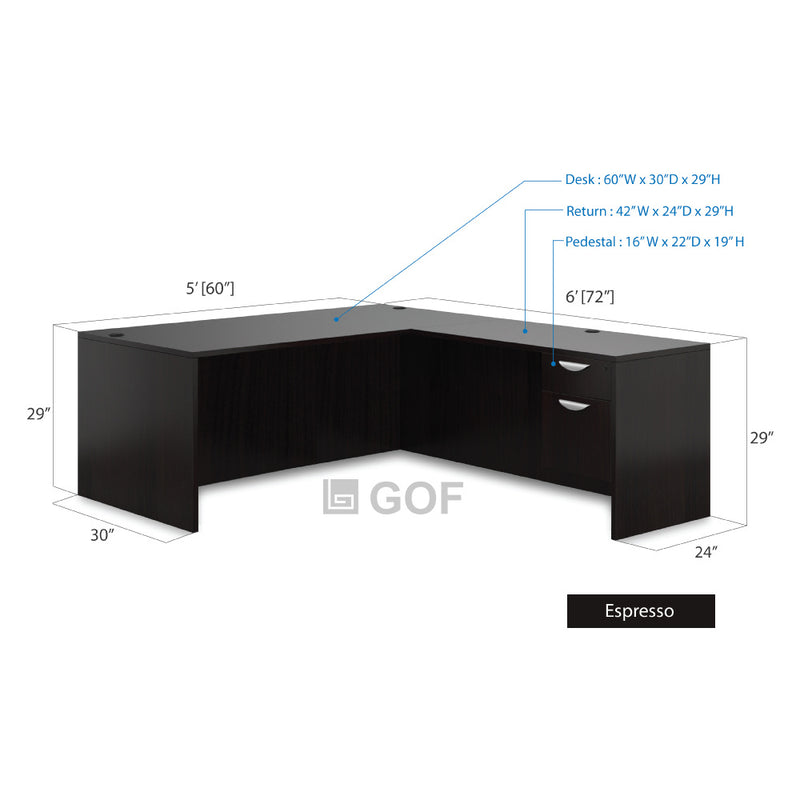 GOF 3 Person Workstation Cubicle (5'D x18'W x 4'H) / Office Partition, Room Divider - Kainosbuy.com