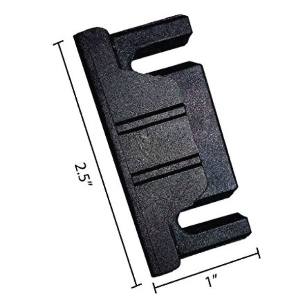 GOF Office Partition Bracket, Latch, Clip <br> Black Hardware - Kainosbuy.com