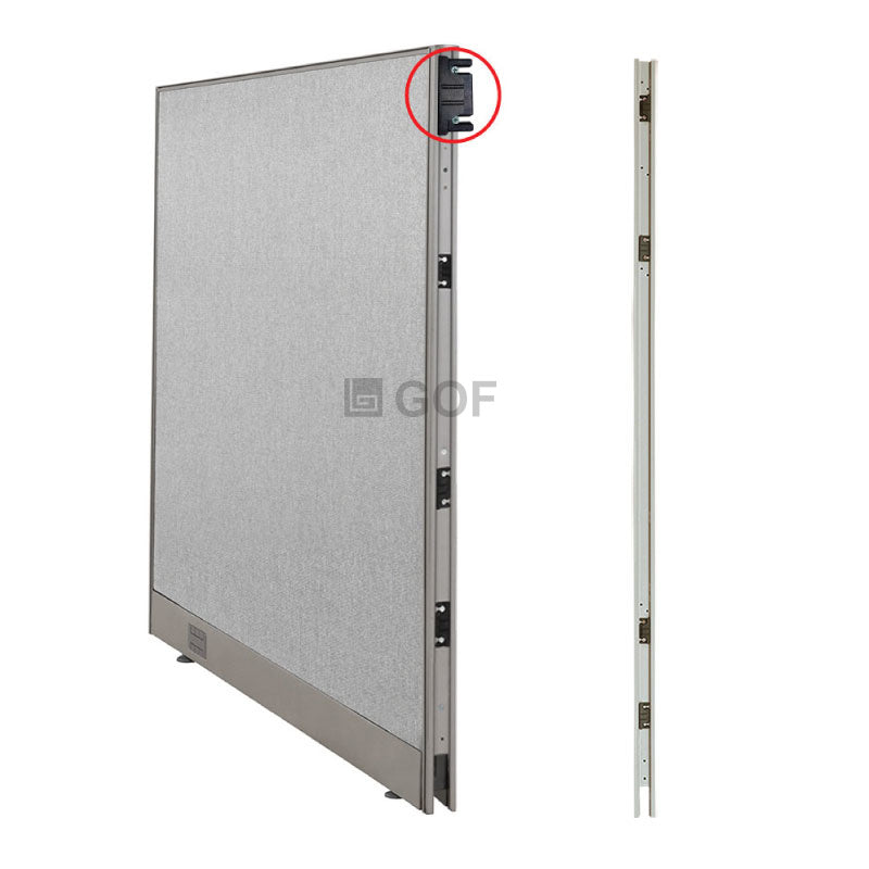 GOF 4 Person Workstation Cubicle (5.5'D  x 24'W x 4'H) / Office Partition, Room Divider - Kainosbuy.com