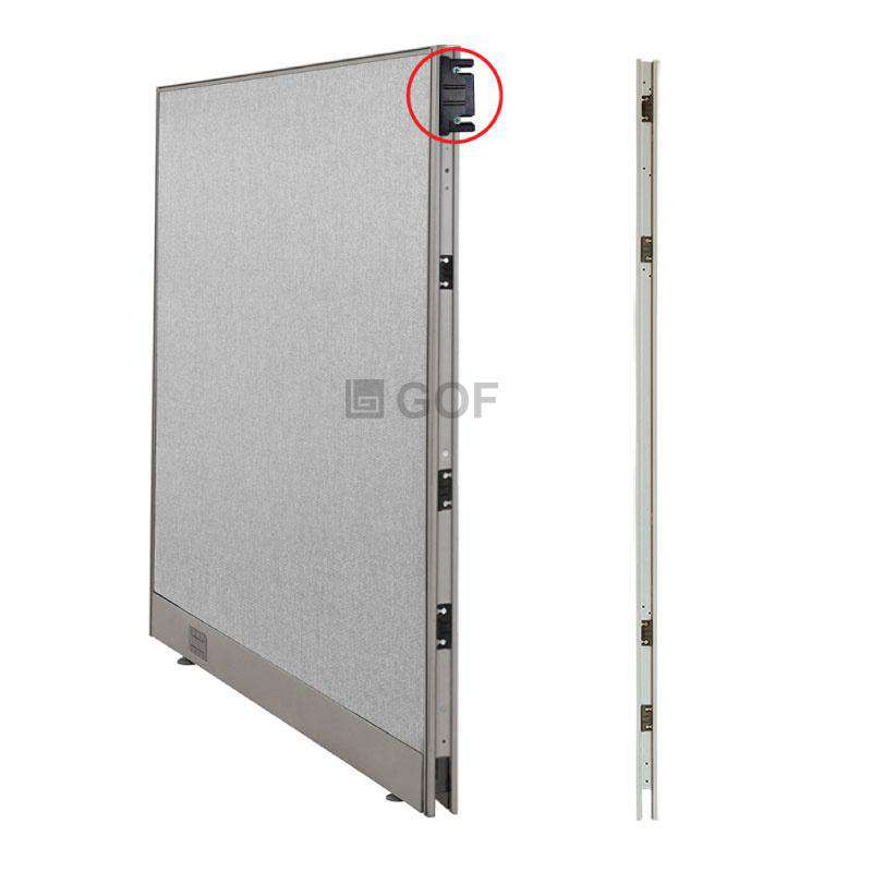GOF 4 Person Separate Workstation Cubicle (5'D x 24'W x 6'H -W) / Office Partition, Room Divider - Kainosbuy.com