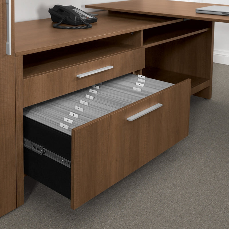 "Princeton 27"" High Credenza with Pulll-Out Equipment Tray-Left - Kainosbuy.com"