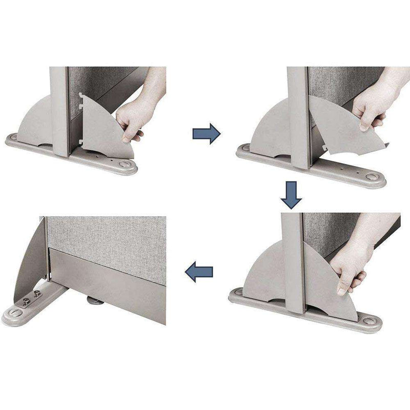 Office Partition Safety Leg for Full Fabric Panel - Kainosbuy.com