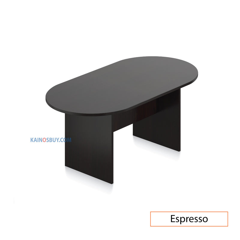 6ft. Racetrack Conference Table with<br> 4 Chairs (G12112B) - Kainosbuy.com