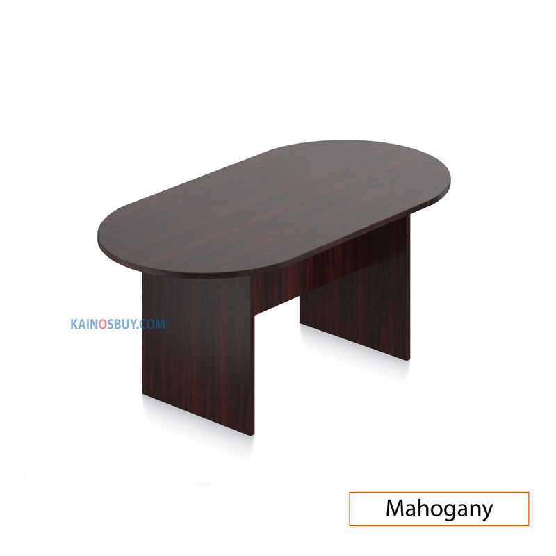 6ft. Racetrack Conference Table with<br>4 Chairs(G10902B) - Kainosbuy.com