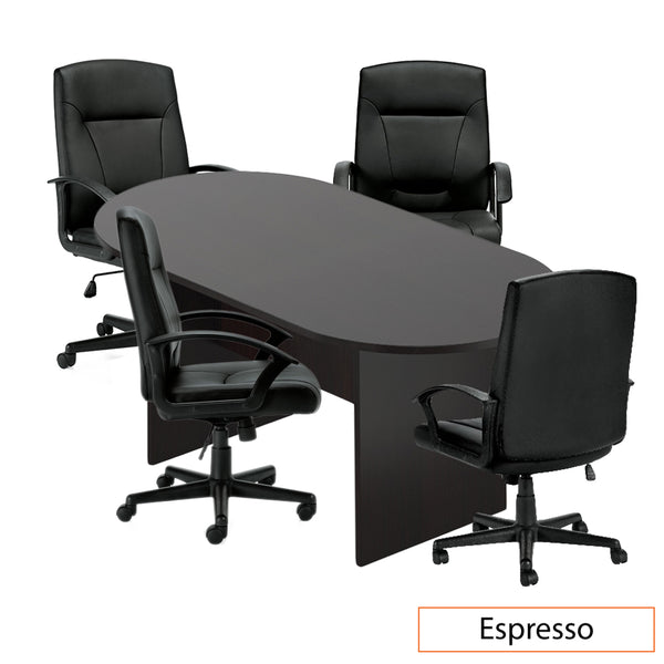 6ft. Racetrack Conference Table with<br>4 Chairs(G11776B) - Kainosbuy.com