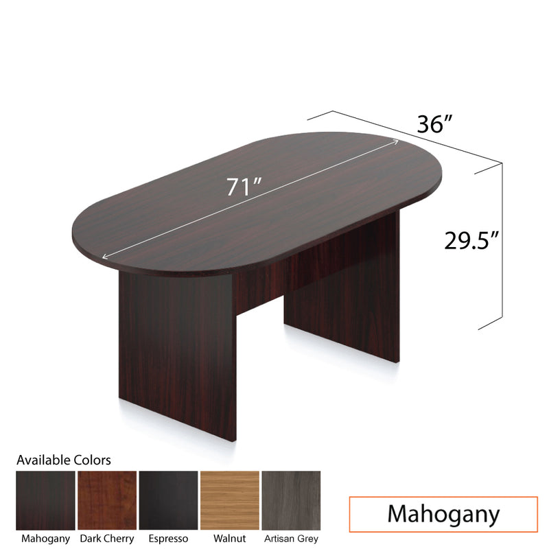 6ft. Racetrack Conference Table with <br>4 Chairs(G10900B) - Kainosbuy.com