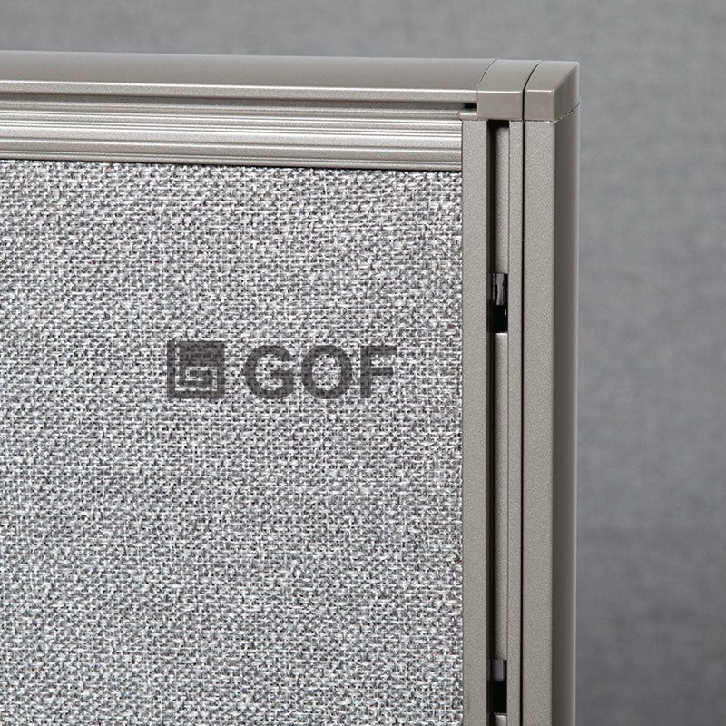 GOF 1 Person Workstation Cubicle (C-6'D x 6'W x 6'H) / Office Partition, Room Divider - Kainosbuy.com