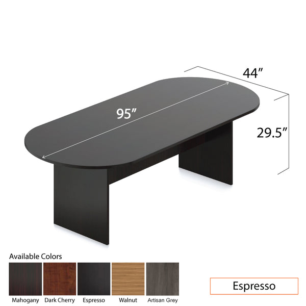8ft. Racetrack Conference Table with<br>6 Chairs(G10900B) - Kainosbuy.com