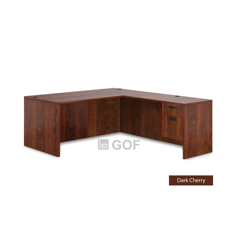 GOF 2 Person Separate Workstation Cubicle (5'D x 12'W x 4'H-W) / Office Partition, Room Divider - Kainosbuy.com