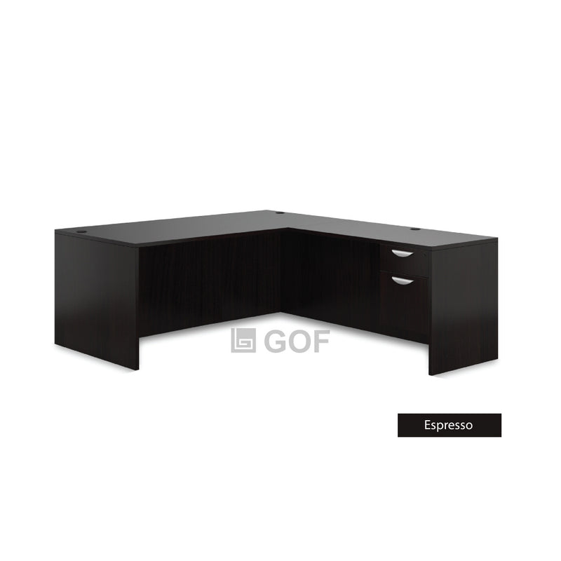 GOF 2 Person Workstation Cubicle (5.5'D x 13'W x 5'H) / Office Partition, Room Divider - Kainosbuy.com