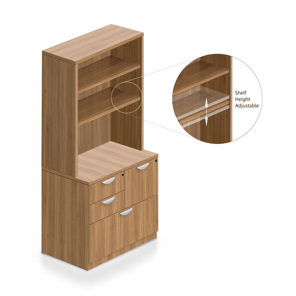Bookcase with Mixed Storage Unit -Storage Tower - Kainosbuy.com