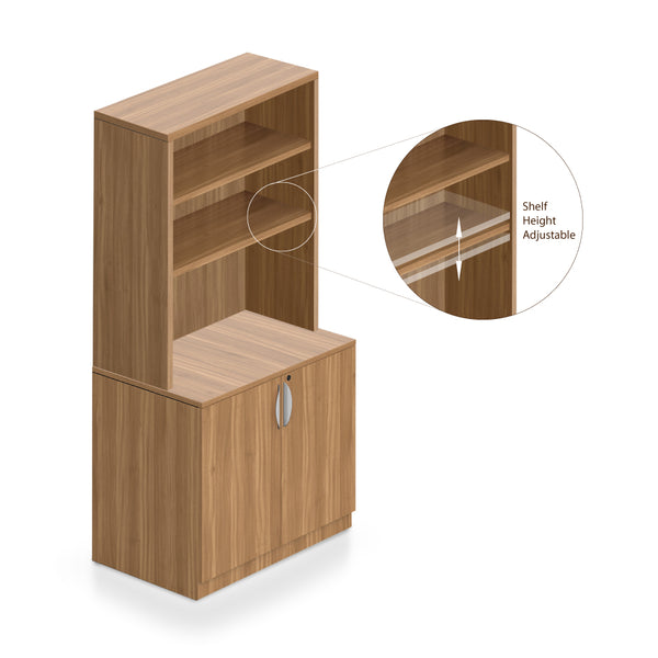 Bookcase with Storage Cabinet -Storage Tower - Kainosbuy.com
