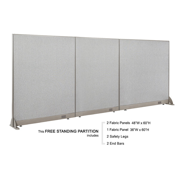 GOF Freestanding Office Partition 132W x 60H - Kainosbuy.com