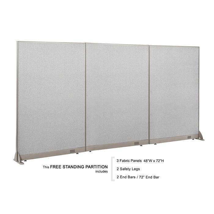 "GOF Office Freestanding Partition 72""H - Kainosbuy.com"