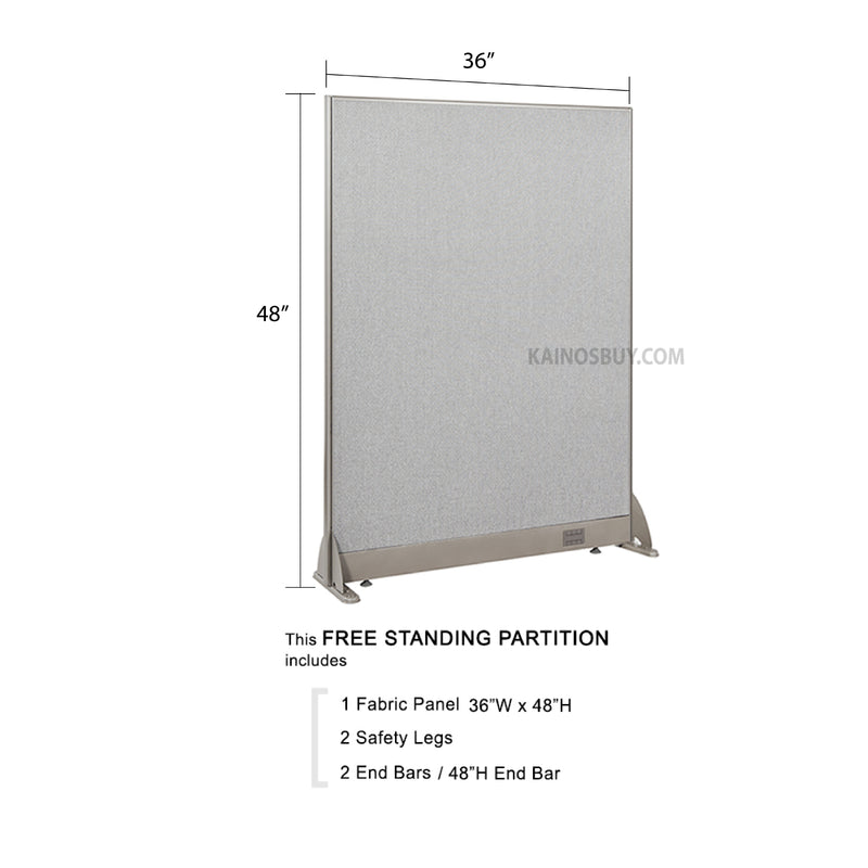 GOF Freestanding Office Partition<BR>36W x 48H - Kainosbuy.com