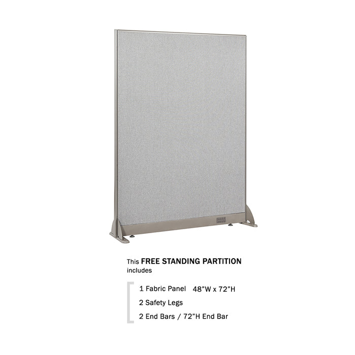 GOF Freestanding Office Partition<BR>48W x 72H - Kainosbuy.com