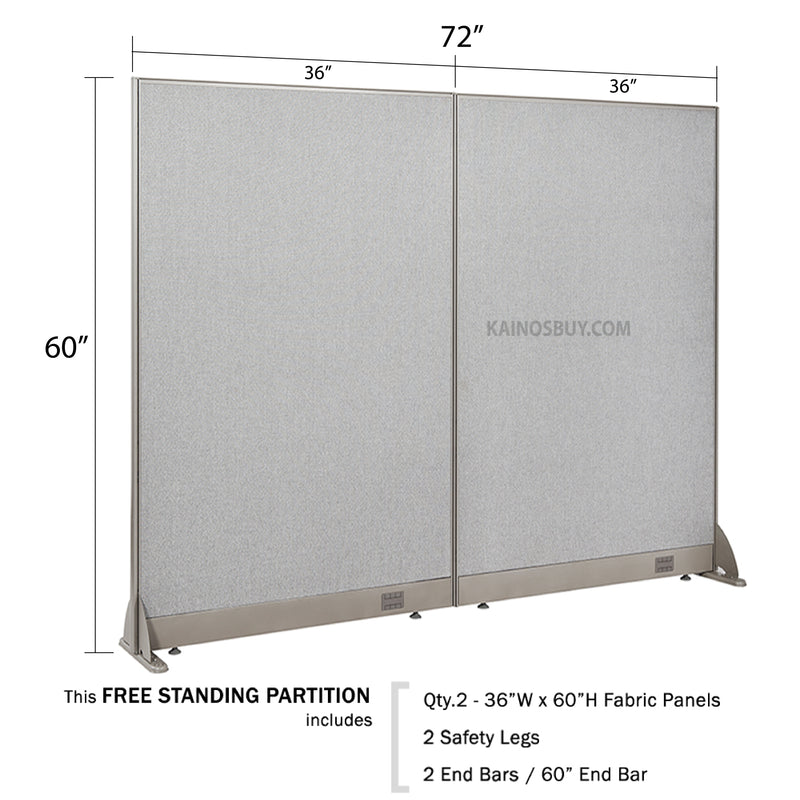 GOF Freestanding Office Partition<BR>72W x 60H - Kainosbuy.com