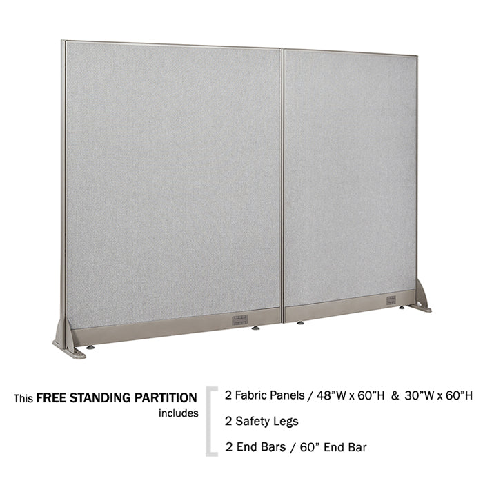 "GOF Office Freestanding Partition 60""H - Kainosbuy.com"