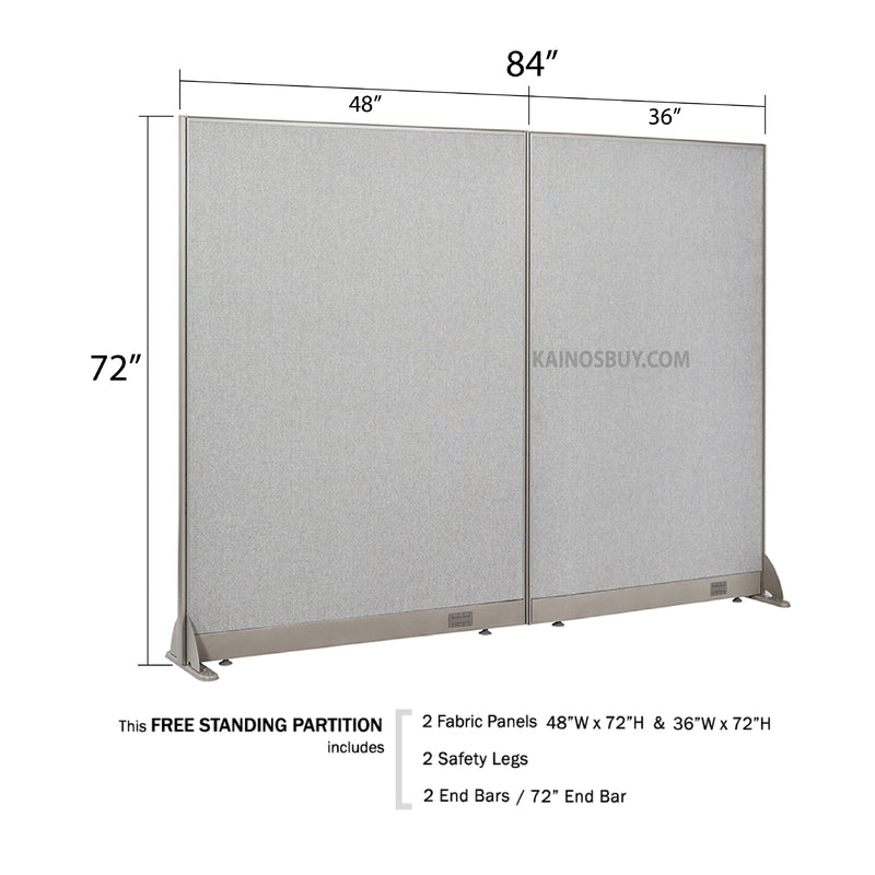 GOF Freestanding Office Partition<br>84W x 72H - Kainosbuy.com