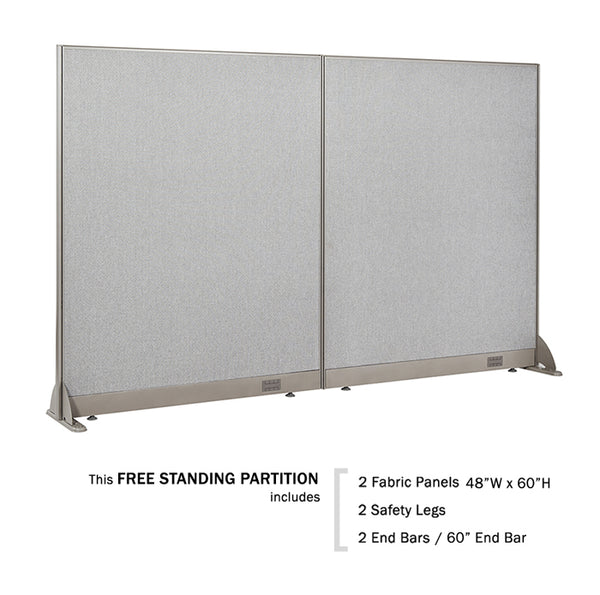 GOF Freestanding Office Partition 96W x 60H - Kainosbuy.com