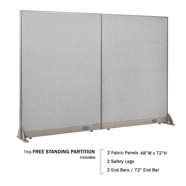 GOF Freestanding Office Partition 96W x 72H / Free Gift !! - Kainosbuy.com