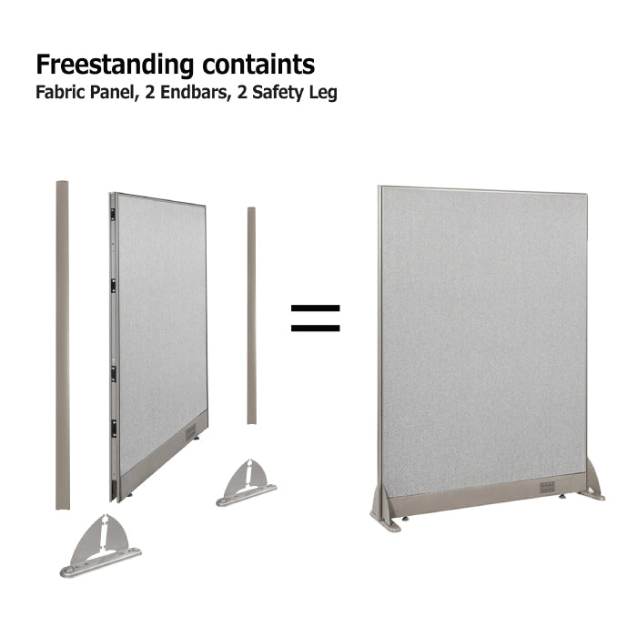 GOF Freestanding Office Partition<BR>126W x 72H - Kainosbuy.com