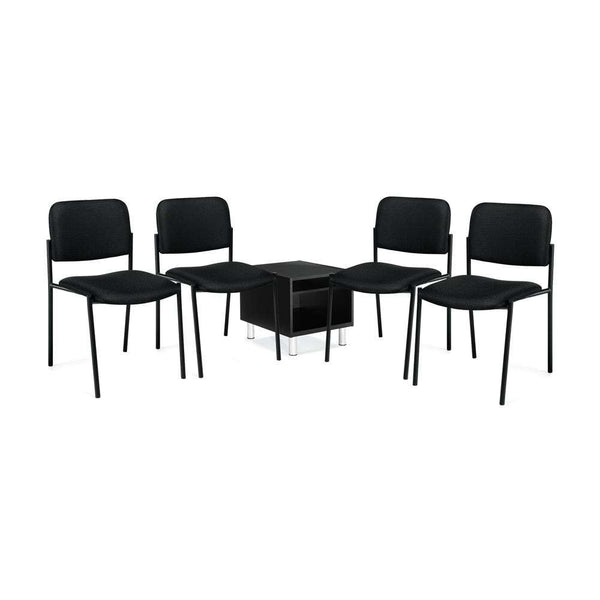 GOF 5 Piece Reception Room Black Chair Table Set - Kainosbuy.com