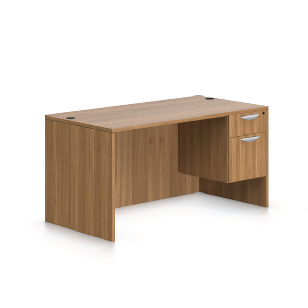 "60""x30"" Rectangular Desk with Hanging B/F pedestal - Kainosbuy.com"