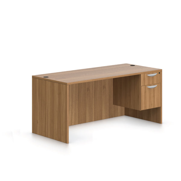 "66""x30"" Rectangular Desk with Hanging B/F pedestal - Kainosbuy.com"
