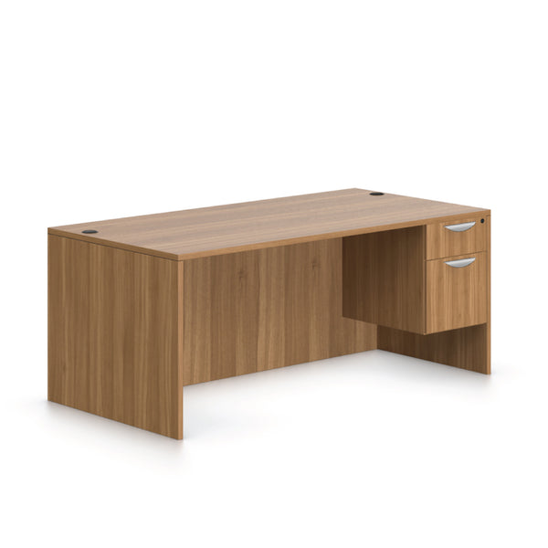 "71""x36"" Rectangular Desk with Hanging B/F pedestal - Kainosbuy.com"