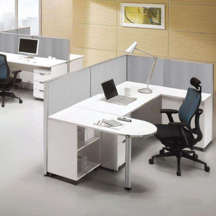 GOF Office L-Shaped Partition 114d x 120w x 48H - Kainosbuy.com