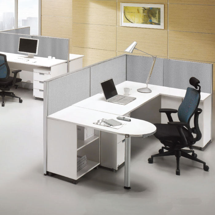 GOF Office L-Shaped Partition 102d x 126w x 72H - Kainosbuy.com