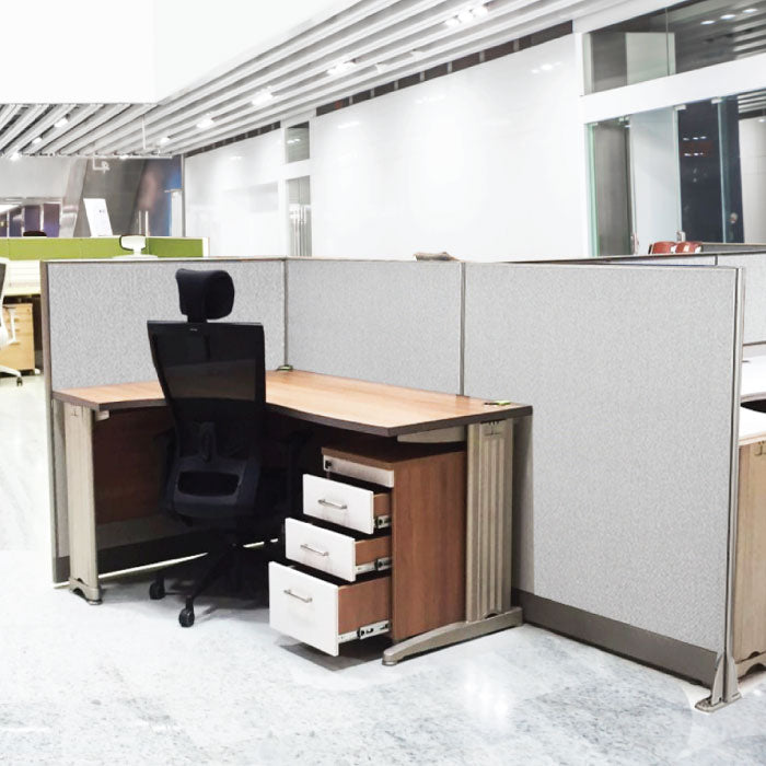 GOF Office L-Shaped Partition 60d x 132w x 72H - Kainosbuy.com