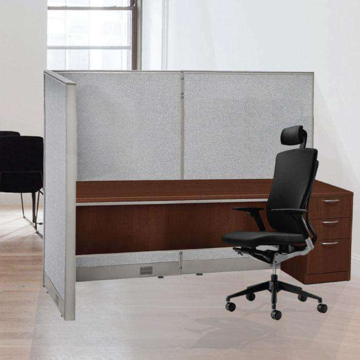 GOF Office L-Shaped Partition 90d x 120w x 48H - Kainosbuy.com