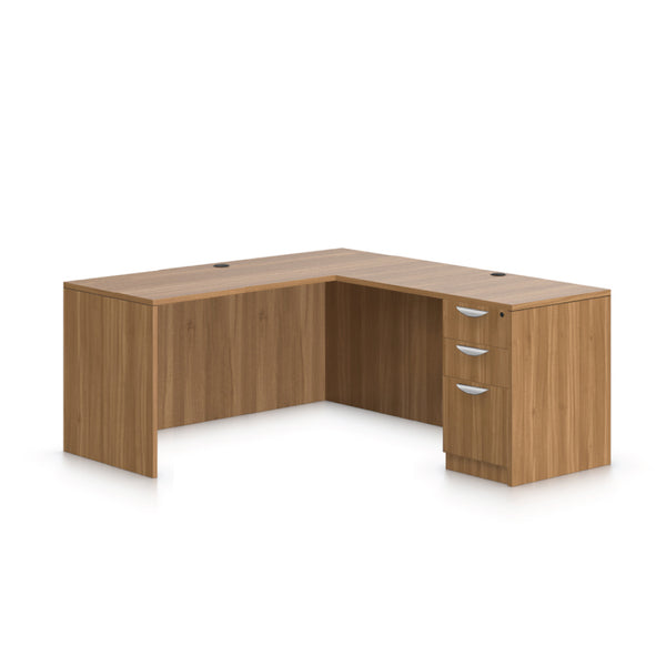 L66B - 5.5' x 5' L-Shape Workstation(Credenza Shell with B/B/F Pedestal) - Kainosbuy.com