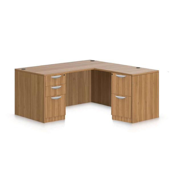 L66C - 5.5' x 5.5' L-Shape Workstation(Rectangular Desk with B/B/F, F/F Pedestal) - Kainosbuy.com