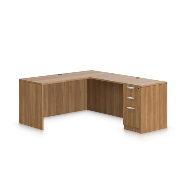 L66D - 5.5' x 6' L-Shape Workstation(Credenza Shell with B/B/F Pedestal) - Kainosbuy.com