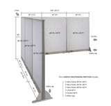 GOF Office L-Shaped Partition 102d x 126w x 60H - Kainosbuy.com