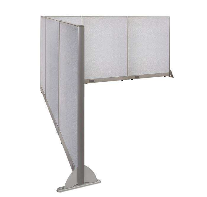 GOF Office L-Shaped Partition 126d x 132w x 60H - Kainosbuy.com