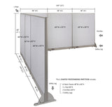GOF Office L-Shaped Partition 144d x 144w x 60H - Kainosbuy.com